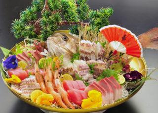 1004)真鯛姿造り盛り合わせ