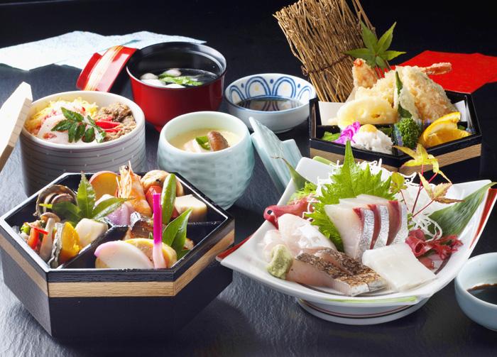 360)地魚お造り四種と六角弁当