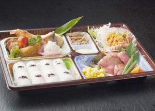394)牛ステーキ海老フライ弁当