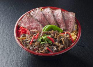 お好み2色丼 ローストビーフ+和牛しぐれ煮